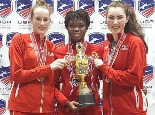 Ariana Mangano Makes US World Cadet and Junior World Fencing Teams.