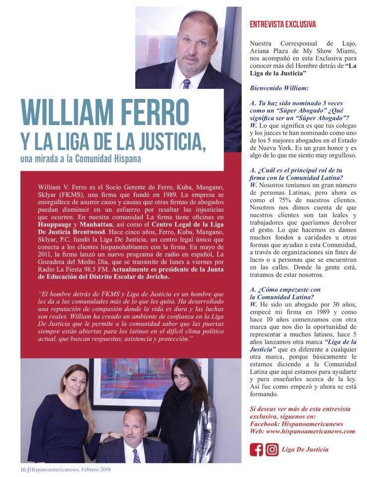 Hispanoamerica News - entrevista exclusiva Liga de Justicia