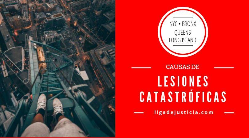 Ejemplos de lesiones catastróficas en New York: Caídas de grandes alturas.