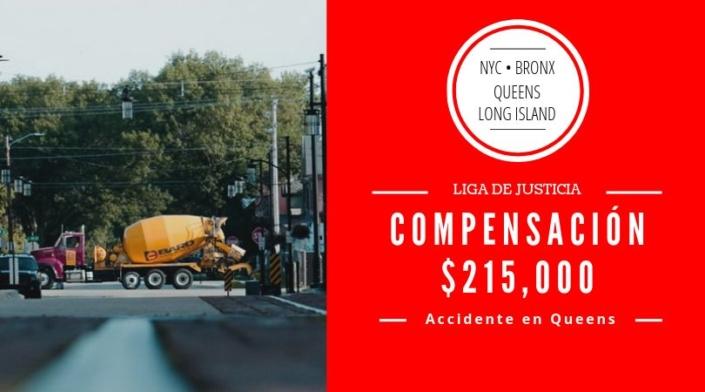 Accidente en Queens, NY con Mezcladora de Concreto. Lesión de Codo.