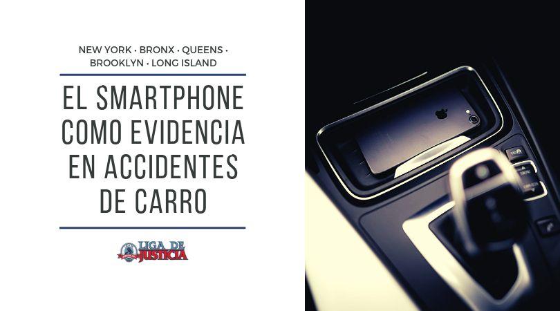 Conoce las penalidades, cuando te sucede a ti o al otro y como se determina que el smartphone es evidencia en accidentes de carro y en litigios por lesiones personales, y cómo obtener más dinero o compensación al ser chocado por un conductor distraído.