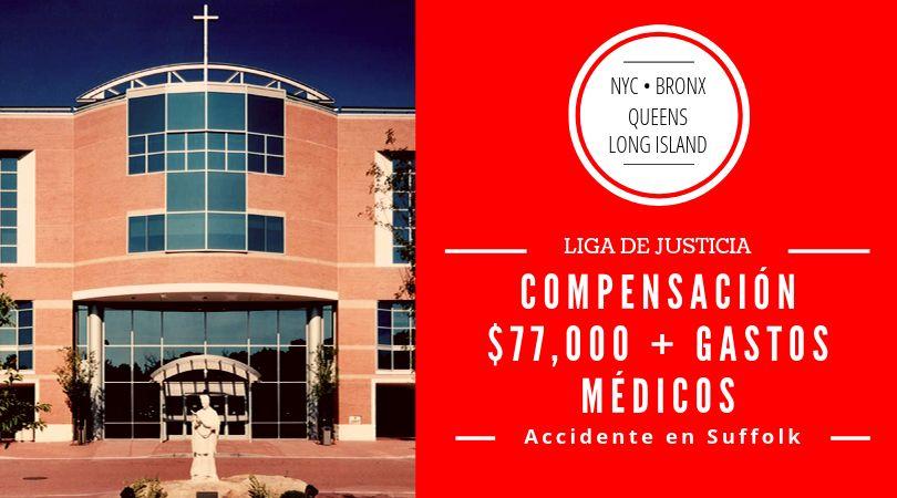 Los abogados de Liga de Justicia logran recuperar $77,000 para cliente que sufrió un accidente como pasajero de taxi en Port Jefferson, Suffolk county.