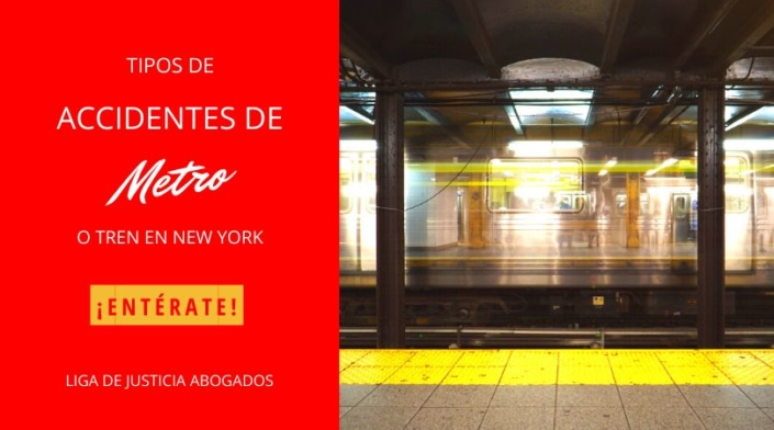 Tipos de accidentes de metro o tren de New York.