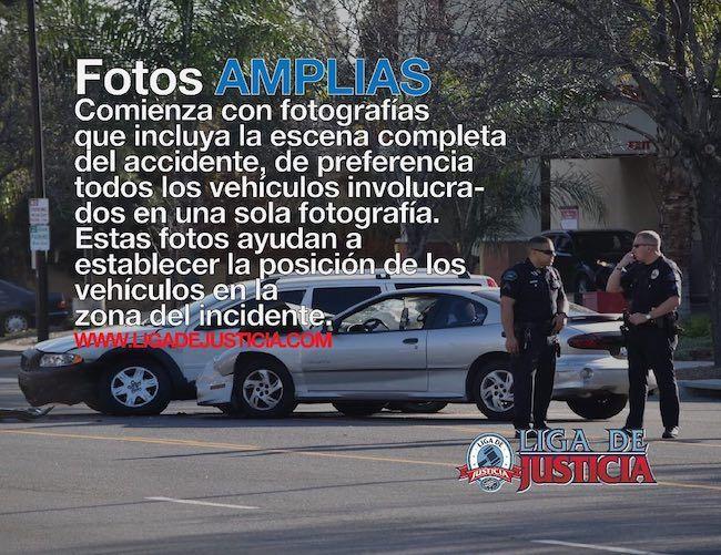 Fotografías que incluyen la escena completa del accidente.
