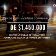 Caso de muerte injusta por negligencia grave contra la ciudad de Nueva York en el Bronx. Liga de Justicia logra un acuerdo por $1.45 millones de dólares.