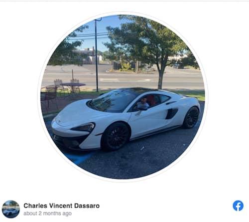 El McLaren del choque frontal en Long Island.