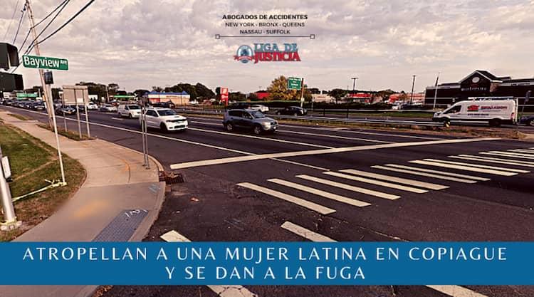 Atropellan a una mujer latina en Copiague y se dan a la fuga.